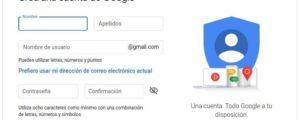 Crear cuenta de correo electrónico Gmail
